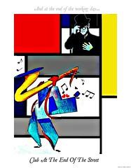 Club At The End Of The Street (Sallanches 1964) Tags: photoshop modernart popart mondriaan digitalcollage digitalreworked sleepingwiththepast musicinspiredart coloredpencildrawings bernietaupinlyrics eltonjohnsongsillustrated