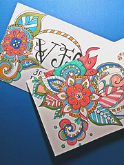 Thank You Note (born 2 b creative) Tags: paper colorful thankyou mail drawing shapes creation doodle card envelope postal pens mailart copic snailmail papercraft doodleart 2013 zendoodle