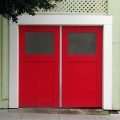 Red Alert (my.third.eye) Tags: sanfrancisco red doors mission missiondistrict garagedoor