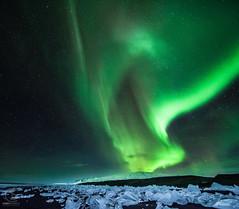 2013-11-07 Aurora Borealis at Jökulsarlon, Iceland (TheAstroShake) Tags: