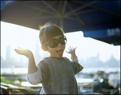 Hello Shanghai! (MichelleSimonJadaJana) Tags: china portrait color 120 girl childhood analog children kid shanghai pentax scanner documentary lifestyle snaps jana epson medium format 6x7   smc f28 67ii flatbed jada 75mm pentax67 vuescan v750 gtx970