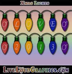 Gay Pride Christmas Lights (liveloudgraphics) Tags: christmas xmas gay wedding holiday male love bulb lights legalize rainbow marriage glbt pride lgbt homosexual queer equality c9 samesex doma homosexuality