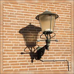 Double (Ciao Anita!) Tags: friends shadow muro netherlands wall nijmegen ombra nederland lantern schaduw olanda lanterna muur gelderland lantaarn nimega theperfectphotographer