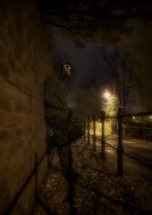 Walk this way (Ivorbean) Tags: nikon shadows darkness creepy gasmask 365 photoart d800 aphotoaday thecleaner nikond800 ivorbean wwwdallowphotoartcom