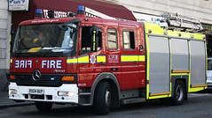 London Fire Brigade Soho Mercedes Atego Pump Ladder - RX04 BUP (IOW 999 Pics) Tags: london fire mercedes soho pump ladder brigade atego bxr ae07