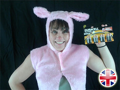 Bunny Lady & Duracell Batteries
