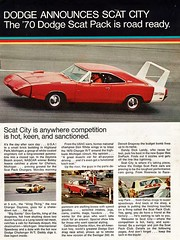 1970 Dodge Daytona scat pack (Rickster G) Tags: 1969 car ads 1971 flyer 60s muscle convertible super literature 1966 bee 1967 70s dodge 1970 1968 hemi mopar 500 daytona sales 1972 brochure 440 1973 rt charger sixpack dealer 426 383 bbody scatpack