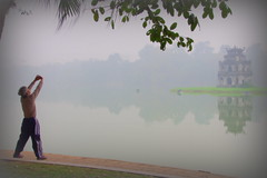 Good morning, Vietnam (armxesde) Tags: morning mist lake reflection fog see pentax vietnam hanoi k5 hoankiem turtletower tortoisetower tháprùa hoankiemsee mygearandme ruby5 therubyawardsinvitation
