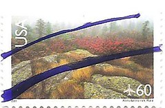 USA stamp - Acadia national park (sftrajan) Tags: usa nationalpark unitedstates maine stamp nationalparks timbre seacoast postagestamp airmail philately acadianationalpark sello briefmarke  francobollo 60cents  lafayettenationalpark