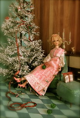 Peace and Happiness.. to all of you on Christmas...! (Retro Mama69) Tags: merrychristmas retrochristmas vintagedolldiorama franciemattel christmas2013 caseymattel