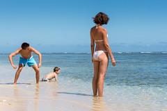 Skipping pebbles (koalie) Tags: ocean vacation sky holiday beach water reunion island sand indianocean saintpaul adrien larunion saintgilles renaud koalie coraliemercier byvv06 byvlad plagedelermitage 2013summervacation