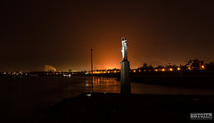 Duisburg - Fire! (dominikBrygier) Tags: sky orange skyline night germany deutschland fire nikon nacht himmel nrw nikkor duisburg feuer bei cty 18105 brygier