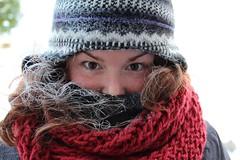 Cold (Jane Inman Stormer) Tags: winter cold hat weather scarf hair outside frozen frost day january indiana sunny negative frigid belowzero subzero polarvortex