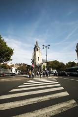 Rayures (Francesco De Quattro) Tags: street sky paris france nikon strada stripes sigma clear cielo francia wheater parigi strisce d90 stradali