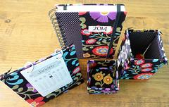 Conjunto de escritório (Pedaços & Retalhos) Tags: craft agenda calendário caixinha feitoamão portacaneta caixadetecido