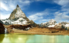 Alpine gorgeous -   If you reblog the photo please leave a link to the original! Thanks!!! (Katarina 2353) Tags: desktop trip travel blue wallpaper vacation sky panorama cloud mountain lake holiday snow mou