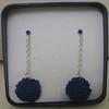 Piccoli girasoli con punto luce (Armonie di filo) Tags: punto blu crochet bijoux earrings luce filo girasoli orecchini uncinetto cotone pendenti