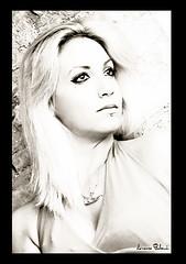 Silvia. (Lorenzo Babucci.) Tags: summer portrait people bw italy woman white black sexy girl smile look night portraits canon vintage donna model eyes nikon italia picture occhi sensuality ritratti ritratto beautifull bellezza intruder ragazza themoon labbra