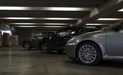 The Beasts (Simone Perico) Tags: auto verde cars car industrial parking 14 automotive turbo alfa romeo mito gt 32 parcheggio v6 automobili giulietta qv cloverleaf quadrifoglio busso