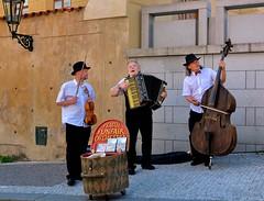 Prague FunFair Orchestra at Prague Castle - Hradansk Nmst (Pantchoa) Tags: music prague band praha praga accordion violin czechrepublic streetphoto nikkor streetmusic doublebass streetshot praguecastle rawfile d90 msicoscallejeros hradansknmst funfairorchestra pantchoa 1685f3556gedvr vision:text=0622 vision:outdoor=0639