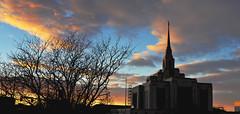 New Ogden Temple January 2014 6 (houstonryan) Tags: new sunset panorama temple ryan january houston mormon lds ogden 2014 houstonryan