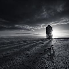 Shadows (~g@ry~ (clevedon-clarks)) Tags: lighthouse monochrome mono coast nikon shadows wideangle somerset coastal stick longlegs burnhamonsea garyclark burnhamlighthouse burnhamonsealighthouse moodymono nikkorafs1635mmf4gedvr