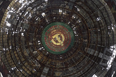 Hammer & Sickle (Subversive Photography) Tags: mist abandoned monument dark ruins decay atmosphere communist bulgaria urbanexploration soviet socialist derelict epic hammerandsickle urbex grandeur liminalspace buzludzha ruinsofmodernity danielbarter