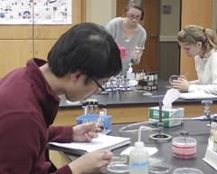 PURP0513 (David J. Thomas) Tags: students lab class arkansas microbiology agar batesville lyoncollege petriplates