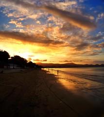 Quando ele vai embora (marcia.kohatsu) Tags: sunset pordosol praia beach portobelo perequ