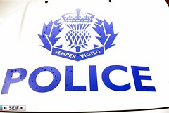Police Scotland Logo Dumbarton 2014 (seifracing) Tags: rescue dog scotland volvo support branch britain scottish police security vehicles research bmw vans british van emergency polizei bomberos spotting services policia recovery strathclyde brigade polis polizia ecosse politie policie seifracing