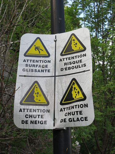 quite stern warnings, pretty much you are gonna die ahead