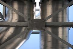 Metal Flag (Michael Mitchener) Tags: metal cross pipe beam bolt strut treatmentplant