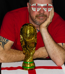 Come on England, maybe, FIFA world cup 2014. (CWhatPhotos) Tags: world pictures red portrait england sun cup saint st self canon ball that photography foot eos prime gold glasses george football foto with cross image artistic pics fifa picture taken pic images shades replica have photographs photograph fotos crop 7d come trophy 60mm which footy georges contain comeonengland cwhatphotos