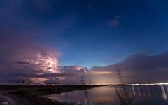 Lightning and the stars (Piaklim) Tags: lightning bluehour sunset star sky night longexposure lake travel outdoor motion landscape thunder rain thunderstorm