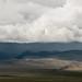 Chuva pesada nas montanhas Altai
