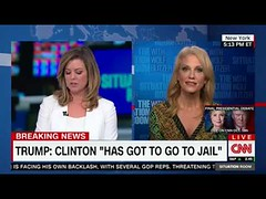 Kellyanne Conway Brianna Keilar Interview Says Shes Taking Trump Clinton in Jail Remarks Literally (Download Youtube Videos Online) Tags: kellyanne conway brianna keilar interview says shes taking trump clinton jail remarks literally