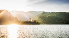 Lake Bled landscape (Zimeoni) Tags: heavy backlight landscape lake bled water slovenia sunlight daytime rays sun