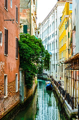 Venice Streets (Roman yczkowski) Tags: travel italy venice streets street boat architecture culture medieval europe river water sea sky love city cityscape view boats vacation wow