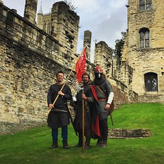 King Harold and his men have arrived at the Bishops' Palace for lunch. #Battle1066 @englishheritage (Visit Lincoln Instagram) (Joel (Visit Lincoln)) Tags: lincoln lincolnshire england britain