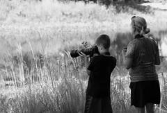 Young Canon, Morton Arboretum. (EOS) (Mega-Magpie) Tags: canon eos 60d outdoors people person boy lady woman mom the morton arboretum lisle dupage il illinois usa america bw black white monochrome nature