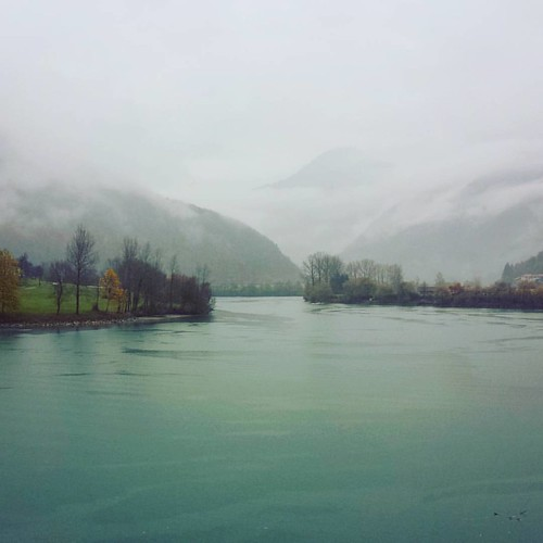 Rain. #autumn #fall #rain #mist #clouds #rainydays #rainy☔ #hills #mountains #lake #socavalley #slovenia #igslovenia #igposocje