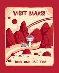 Visit mars (randyotter) Tags: art design illustration cool fun drawing digital randyotter clever puns cute colour