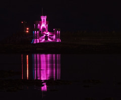 Tower of Refuge, Douglas, Isle of Man (neilalderney123) Tags: 2016neilhoward iom isleofman towerofrefuge night olympus reflections tower douglas water