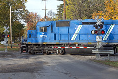 New Power on the IN (Troy Strane) Tags: indiana northeastern railroad locomotive emd sd45 sd402 fortwaynejackson nyc grain michigan reading