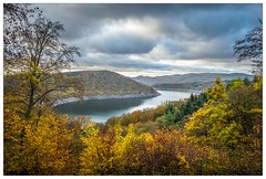 Autumn in Waldeck ('Mark Harris') Tags: dam trees fall stausee reservoir hessen edersee forest beech oak herbst hydroelectric diving nikon operationchastise