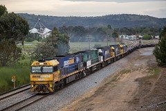 "2016-10-16 Pacific National NR45-NR84-NR92-NR97-8033 Cootamundra 7YN2 (Dean ""O305"" Jones) Tags: cootamundra newsouthwales australia au 7yn2 nr45 nr84 nr92 8033 nr97 main south line nsw steel train link"