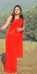 South Actress Deepika Das Hot in Red Sari Photos Set-5 (14)
