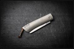 1C5A3259 (bakelite1) Tags: couteaux sepia titane jerome hovaere torpen cran forcé lucane seiche