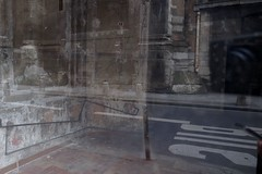 .. (lux fecit) Tags: paris reflet reflection window saintsulpice street walls stone red