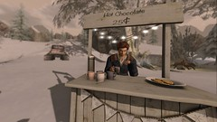 Lazy Sunday Afternoon (ChaosFear) Tags: second life break snow hot chocolate it all starts with a smile virtual